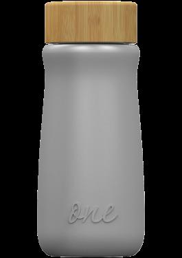 Silver metallic ONEconic – еко бутилкa от стъкло, 500 мл